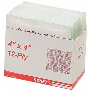 North by Honeywell 804412C Gauze Pads, 4-Inch x 4-Inch 12 Ply, 1800 per case