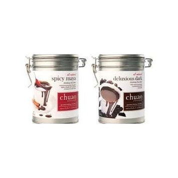 Chuao Gourmet Drinking Chocolate 12 Oz. Tin Can (Combo Pack)