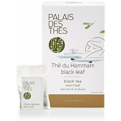 Palais des Thés, Thé de Hammam, Black Tea with Berries and Rhubarb, (20 Tea bags)