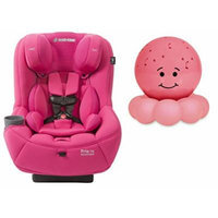 Maxi-Cosi Pria 70 Convertible Car Seat with Easy Clean Fabric and Pink Twilight On the Go Nightlight, Pink Berry