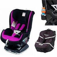 Peg Perego Primo Viaggio Infant Convertible Car Seat w Car Seat Travel Bag & Cup Holder (Fleur)