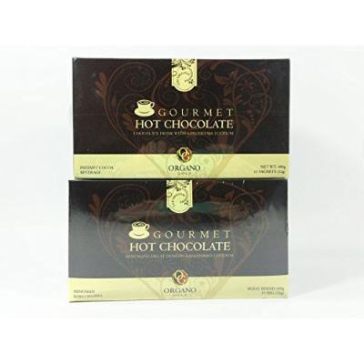 2 Boxes Organo Gold Gourmet Hot Chocolate,17oz (15 Sachets)