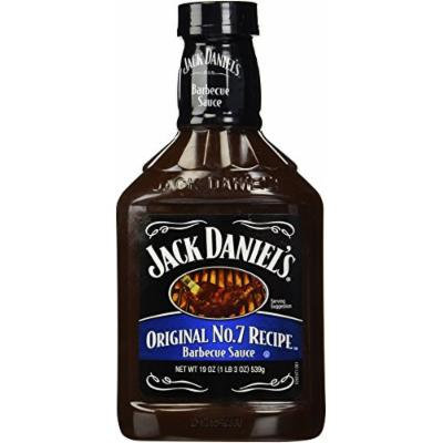 Jack Daniel's BBQ Sauce, Original No. 7 Recipe,19oz, (pack of 2)