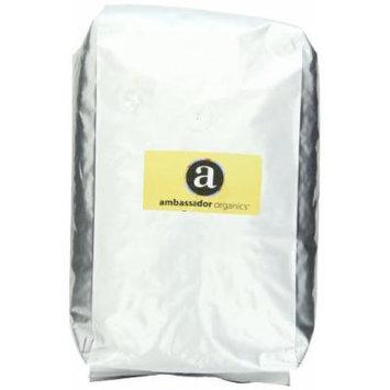 Ambassador Organics Coffee, Mild Roast, Whole Bean, 5 Pound