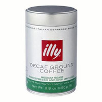 Illy Decaffeinated Espresso Grind Medium Roast Coffee, Green Band, 6 Count