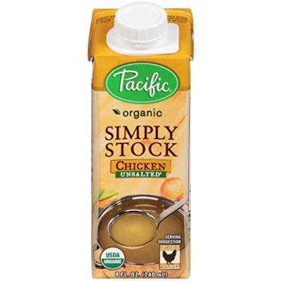 Pacific Foods Organic Simply Stock, Chicken Unsalted, 8 Ounce (Pack of 12)