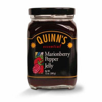 Gourmet Marionberry Pepper Jelly - Marionberries, Red Bell Peppers & Jalapeños - by Quinn's (Pack of 3)