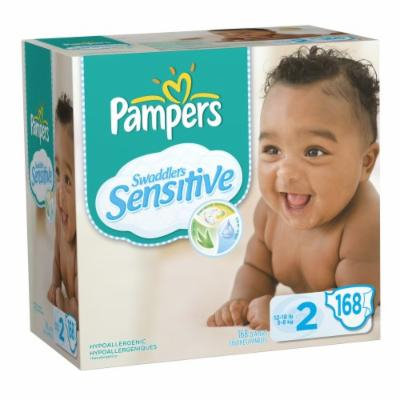 Pampers Swaddlers Sensitive Diapers Economy Pack Plus Size 2, 168 Count