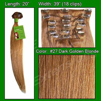 Pro Extensions #27 Blonde - 20 inch Remi Set - 100% Human Hiar Extension Grade A+
