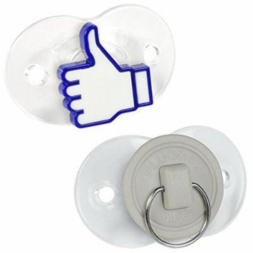 Fred & Friends Funny Pacifier, Set of 2, Like It/Stopper