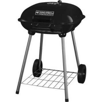BBQ Pro 18-Inch Kettle Style Heat Resistant Barbecue Charcoal Grill with Wheels Home Outdoor Patio Garden Backyard Cooking Grilling