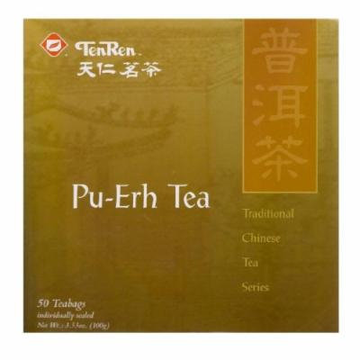 TenRen Pu-Erh Tea (50 Teabags, Individually Sealed)