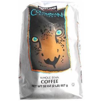 Kirkland Signature Colombian Supremo Whole Bean Coffee 2 Lb. Medium Roast (2 Pack)