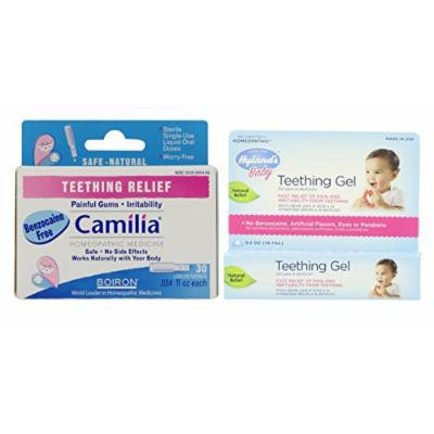 Boiron Camilia Teething Relief (30 Count) with Hyland's Teething Gel