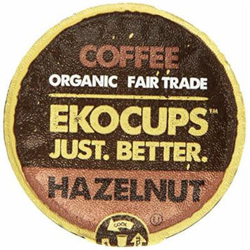 EKOCUPS Artisan Organic Hazelnut Flavored Coffee, Medium roast , in Recyclable Single Serve Cups for Keurig K-cup Brewers, 10 count