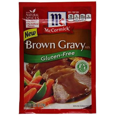 Mccormick Gluten-free Brown Gravy Mix .88 Oz Pack of 3