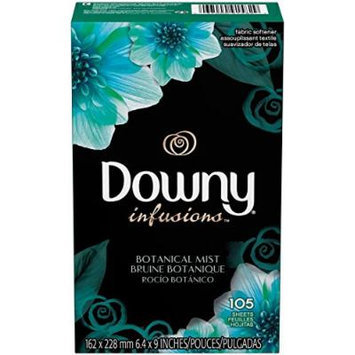Downy Infusions Fabric Softener Sheets, Botanical Mist, 105 Count