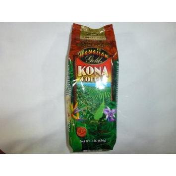 Hawaiian Gold Mauna Loa Sunrise French Roast Ground Kona Coffee 1lb.
