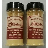 Amish Country Popcorn White Cheddar Cheese Seasoning, 3.8 oz (Pack of 2)