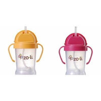 ZoLi BOT 2 Pack Sippy Cup (Orange, Pink)