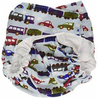 CuteyBaby That's a Wrap Diaper Cover, Trains & Cars, Large