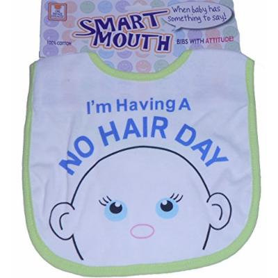 Funny Baby Bib Unisex Choose Your Sayings and Colors Smart Mouth Bibs with Attitude (Green)