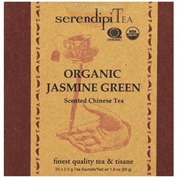 SerendipiTea Organic Tea Jasmine Green, 20 Count (Pack of 8)