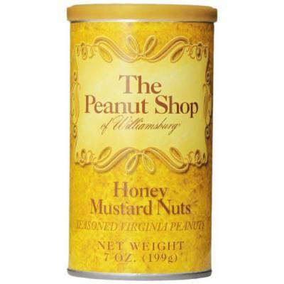 The Peanut Shop of Williamsburg Peanut Tin, Honey Mustard Seasoned, 7 Ounce