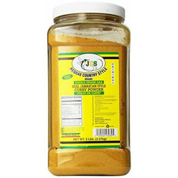 JCS Reggae Country Style Brand Real Jamaican Style Curry Powder 5 Lbs