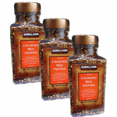 3 Pack Lot Kirkland Signature Crushed Red Pepper Flakes 10oz.
