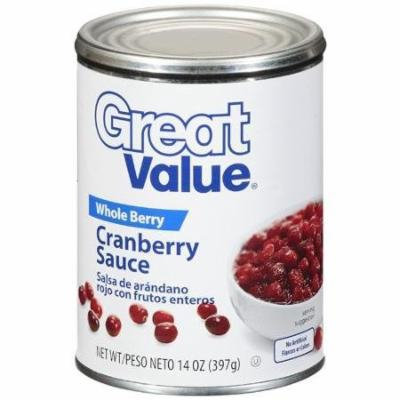 Great Value, Whole Berry, Cranberry Sauce