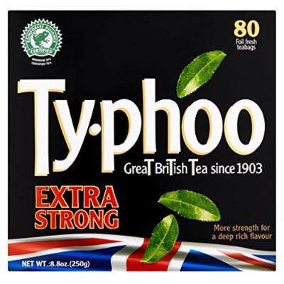 Typhoo Extra Strong - Tea Bags 80 Foil Fresh Teabags