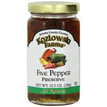 Kozlowski Farms Jam, Five Pepper, 10.5-Ounce (Pack of 6)