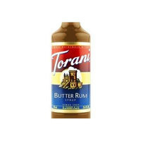 Torani Butter Rum Syrup (1 Single 750 ml bottle)