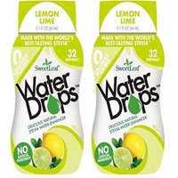 SweetLeaf Lemon Lime Waterdrops, (2 Pack of 2.16 Ounce)
