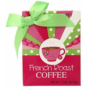 Too Good Gourmet Pink Cup Gift Set with French Roast Coffee, (Pack of 24)