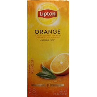 Lipton, (Black, Herbal & Green Teas), 28 Count, 2.0oz Box (Pack of 3) (Choose Flavor) (Orange)