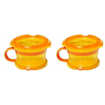Munchkin Click Lock Toddler Deluxe Snack Catcher - 2 Pack (Orange/Orange)