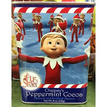 Chippey's McSteven's Peppermint Cocoa The Elf on The Shelf Story Decorative Tin (8 oz Tin)