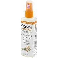 CRYSTAL essence Mineral Deodorant Body Spray - Chamomile & Green Tea (4 fl oz) - 12 Pack