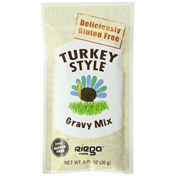 Riega Gluten Free Turkey Style Gravy Mix, 0.70 Ounce (Pack of 8)