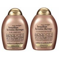 OGX® Ever Straight Brazilian Keratin Therapy Shampoo + Conditioner