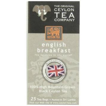 The Original Ceylon Tea Company, English Breakfast Tea, 25-Count Tea Bags (Pack of 6)
