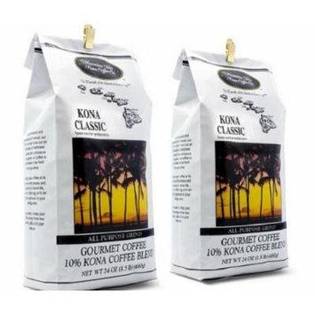 Kona Classic Kona Coffee 3 pound (two 24 oz bags)