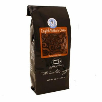 Coffee Beanery English Toffee and Cream Flavored Coffee SWP Decaf 16 oz. (Automatic Drip)