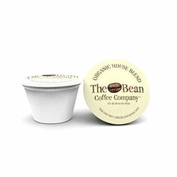 The Bean Coffee Company Single Serve Cups House Blend Organic Coffee, Medium/Dark Roast, 100 Count