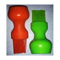 BBQ Bottle Top Brushs Silicone Bristles package of two