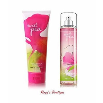 Bath & Body Works Signature Collection SWEET PEA Gift Set Triple Moisture Body Cream & Fragrance Mist