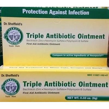 4 Triple Antibiotic Ointment Cream Dr Sheffields First Aid Infection Cuts Burns, 36g