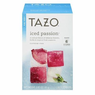 Tazo Iced Tea, Passion Tea 6 bags (Pack of 2)